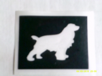 10 - 100 x Setter dog stencils for etching on glass Red Irish